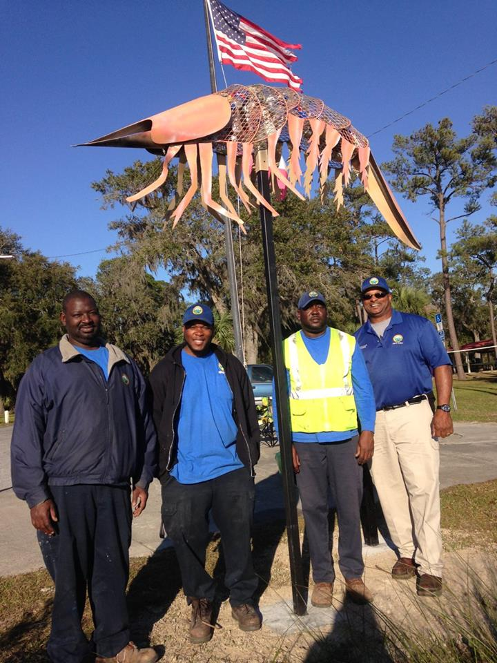 littersculpture installation 2317 Coast Guard Stattion6