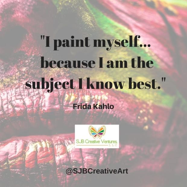 I paint myself